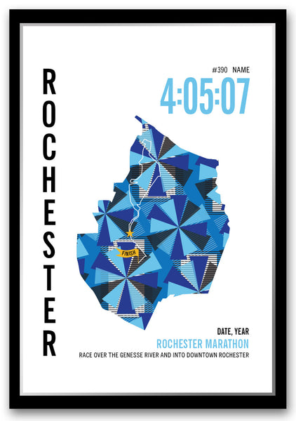 Rochester Marathoner Map
