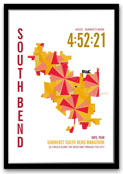 Sunburst South Bend Marathoner Map
