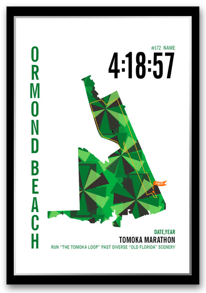 Tomoka Marathoner Map - Run Ink