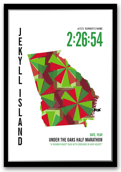 Under the Oaks Marathoner Map