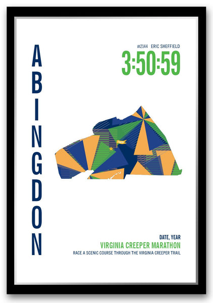 Virginia Creeper Marathoner Map - Run Ink