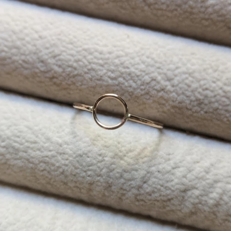 Mineral and Matter Circle Stacking Ring