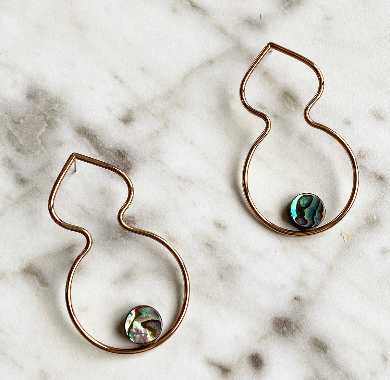 Organic Abalone Earrings