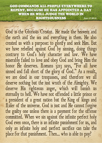 The Glorious Creator Tract (pack of 100)