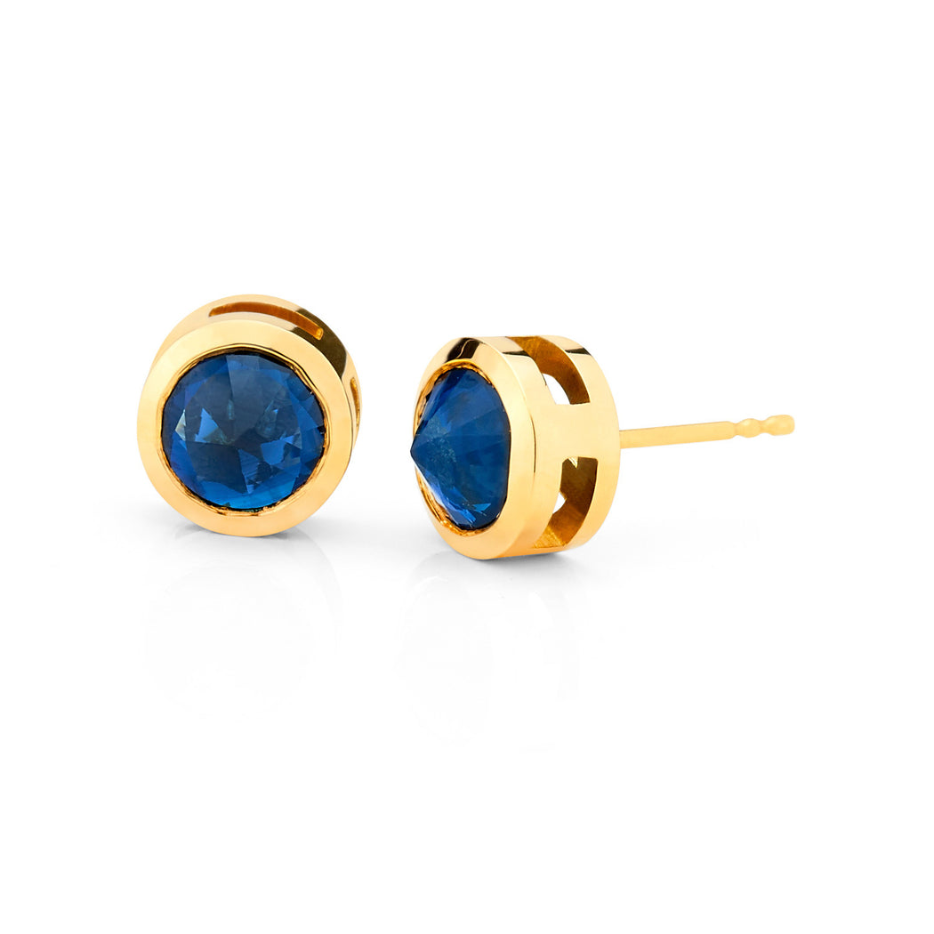 Inverted Set Bezel Set Stud Earrings