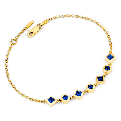 Inverted Set Princess-In-Training Bracelet in Yellow Gold
