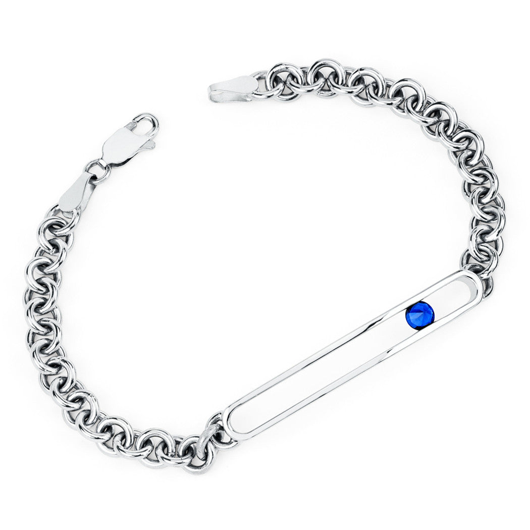 Negative Space Id Bracelet