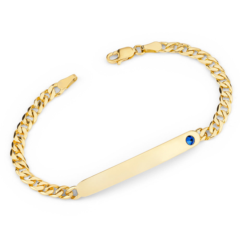 Reign Id Tag Bracelet in Yellow Gold