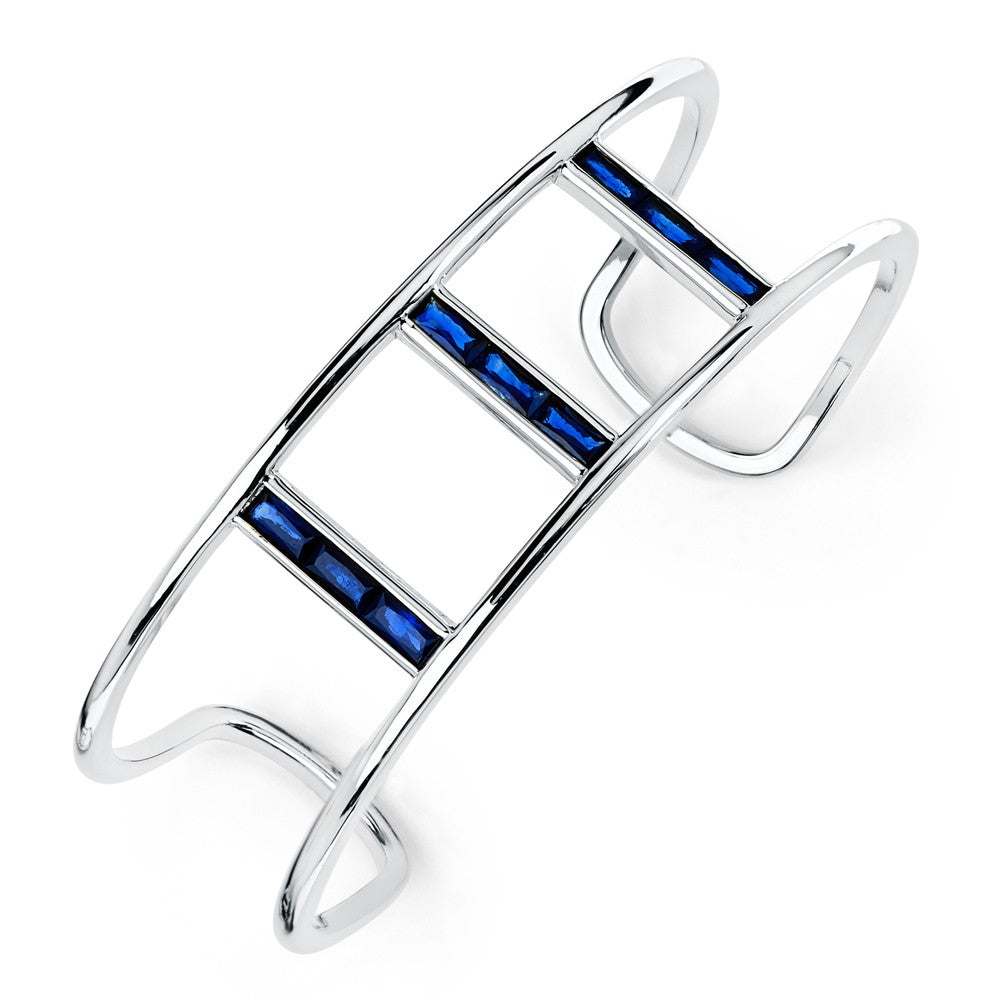 Baguette Triple Bridge Cuff