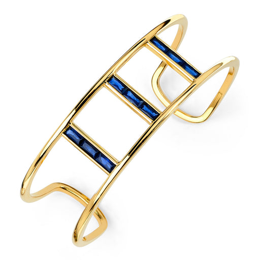 Baguette Triple Bridge Cuff in Yellow Gold