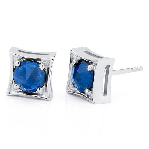 Inverted Set Frame Stud Earrings