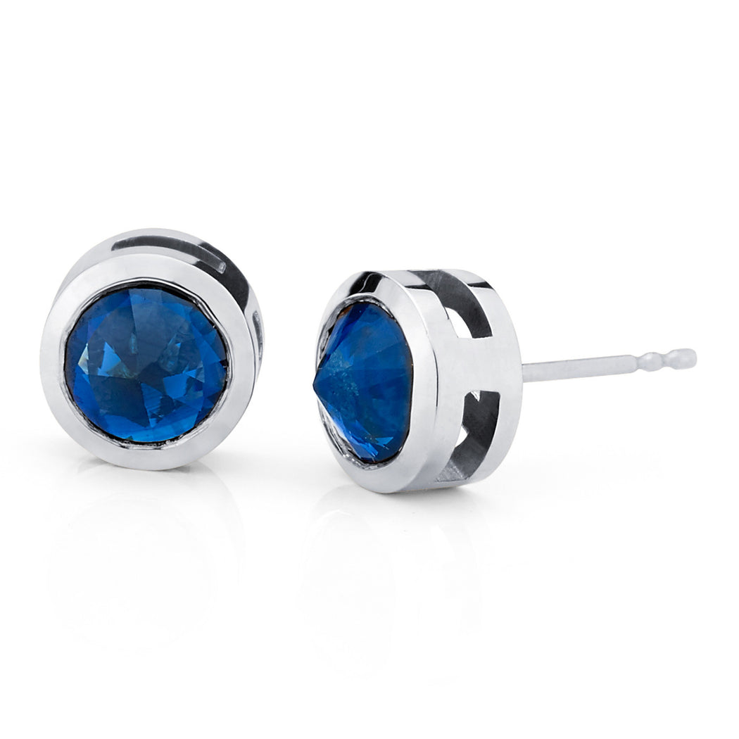 index set swarovski crystal made bezel earrings with stud main