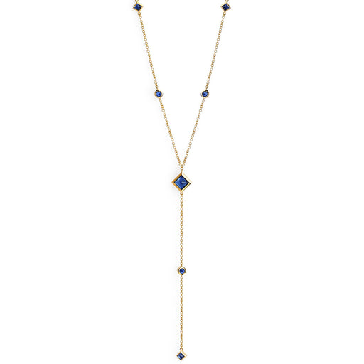 Reign Lariat Necklace in Yellow Gold