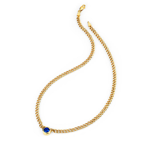 Reign Classic Solitaire Necklace in Yellow Gold