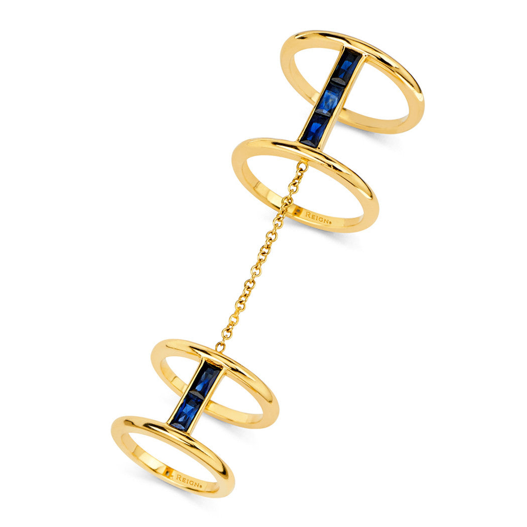 Baguette Double Ring
