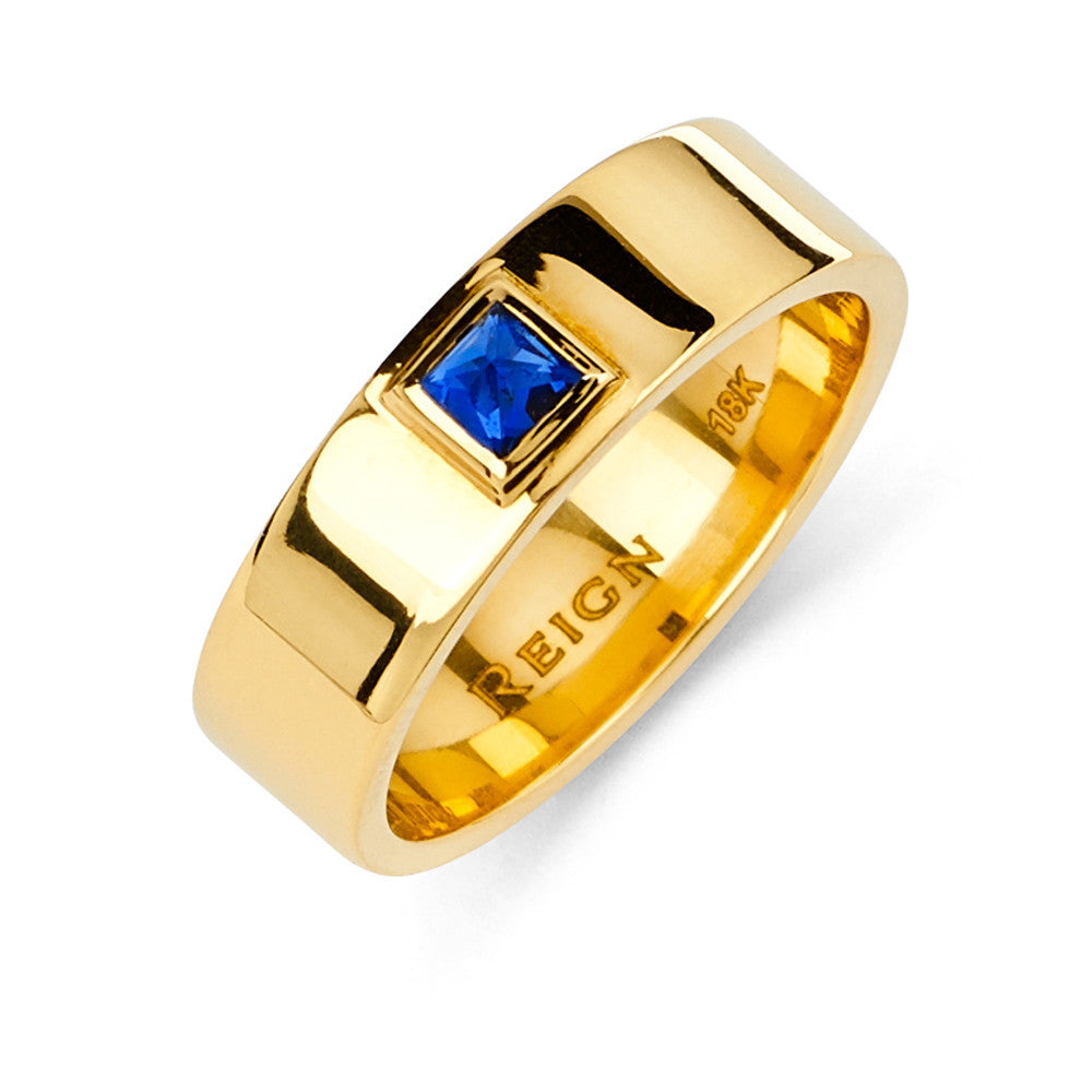 Thin Cigar Band in Yellow Gold