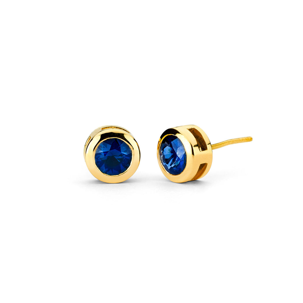 Bezel Set Stud Earrings