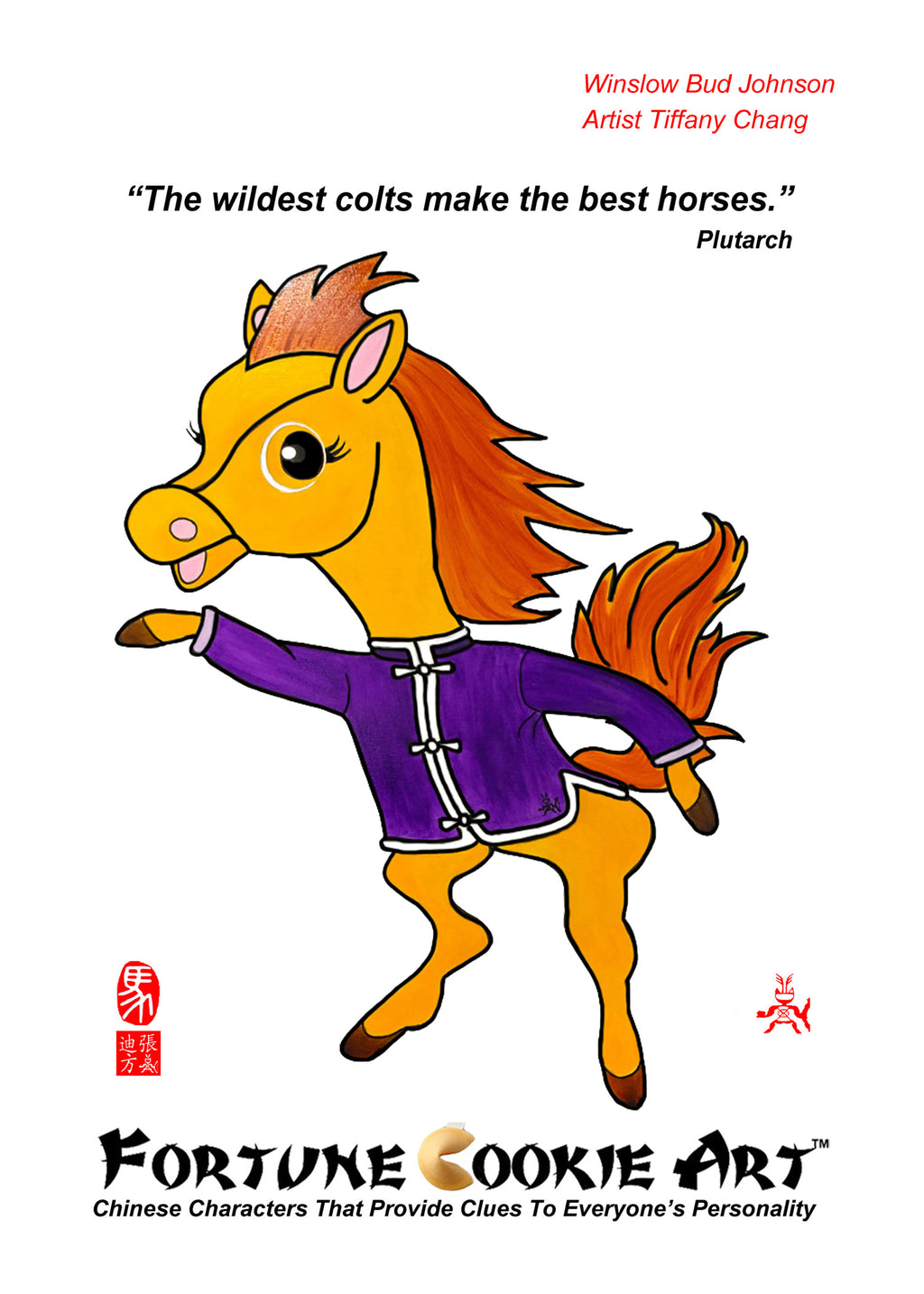 Fortune Cookie Art - The Energetic Horse