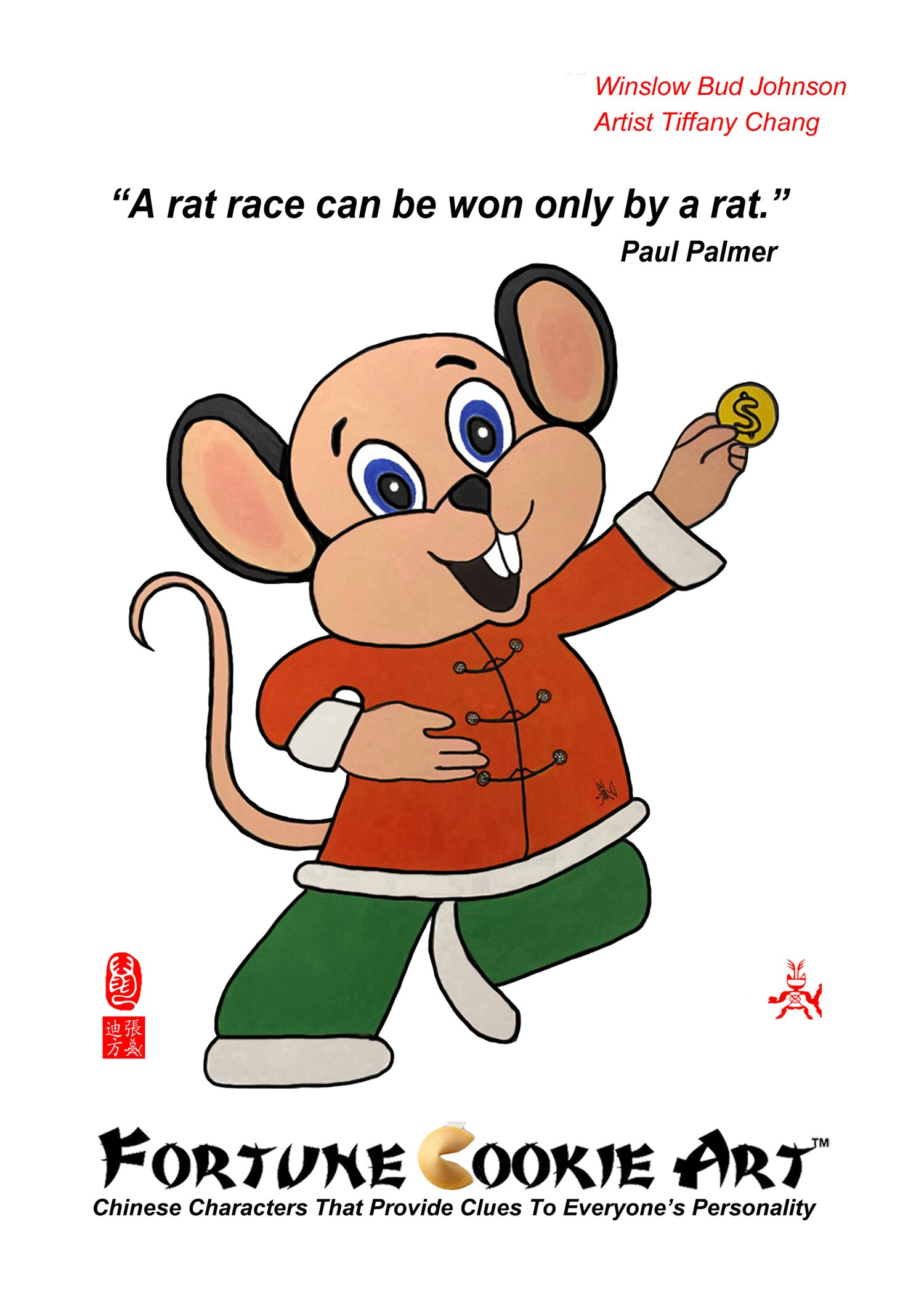 Fortune Cookie Art - The Resourceful Rat
