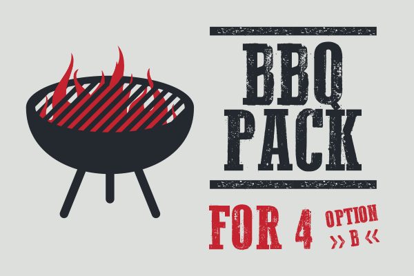 BBQ Pack for 4 (OPTION B)