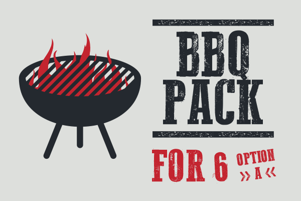 BBQ Pack for 6 (OPTION A)