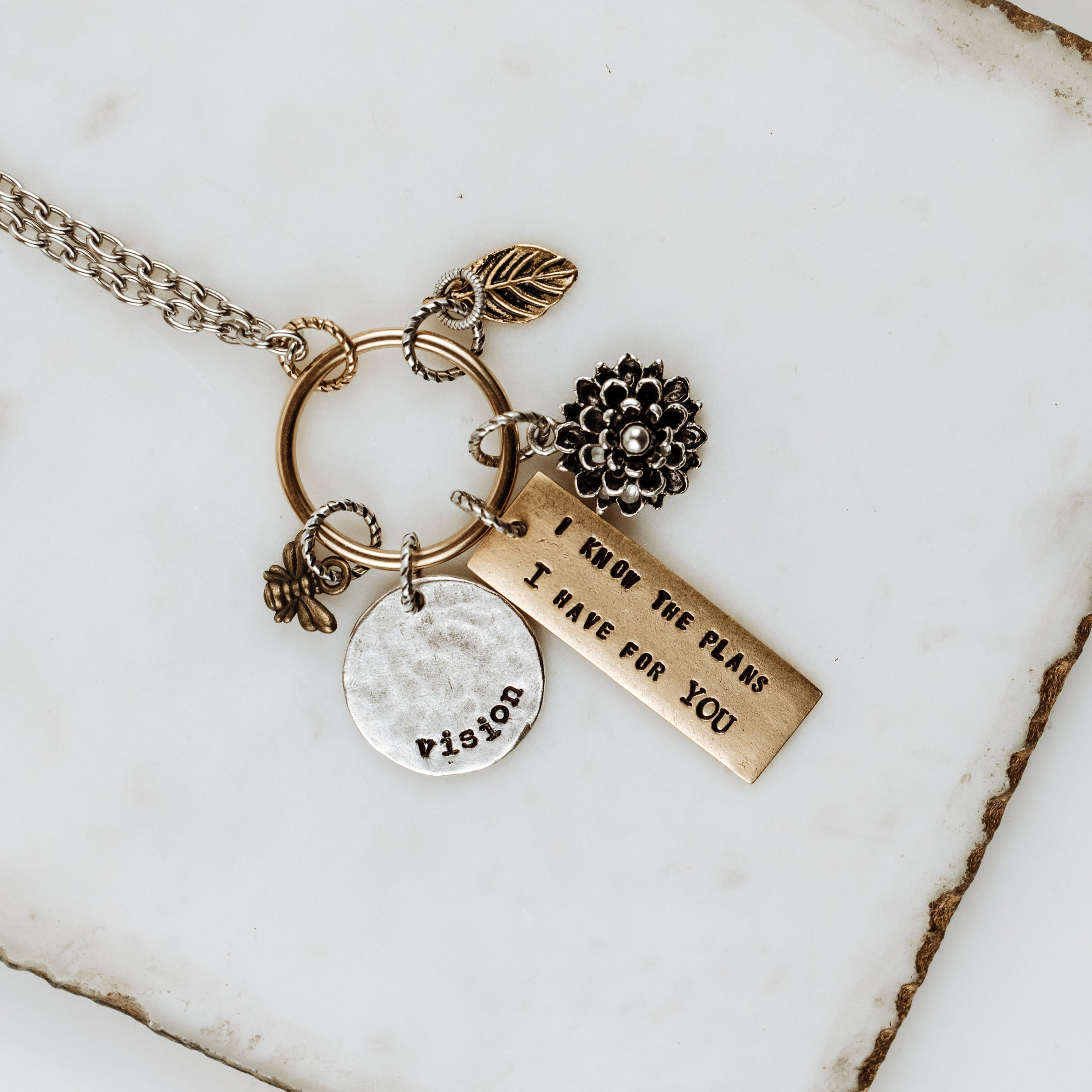 "June ""New Life"" 5-Charm Necklace"