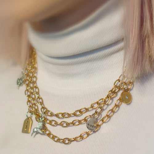 Coming Home Layered Charm Necklace