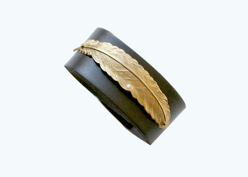 The Presence Wide Leather Cuff