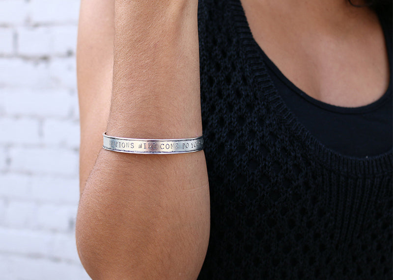 Nations Will Come Stamped Bangle