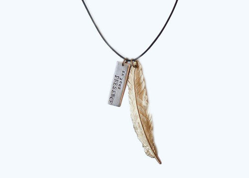 In Your Presence Leather Necklace