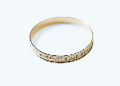 Perfect Peace Stamped Bangle