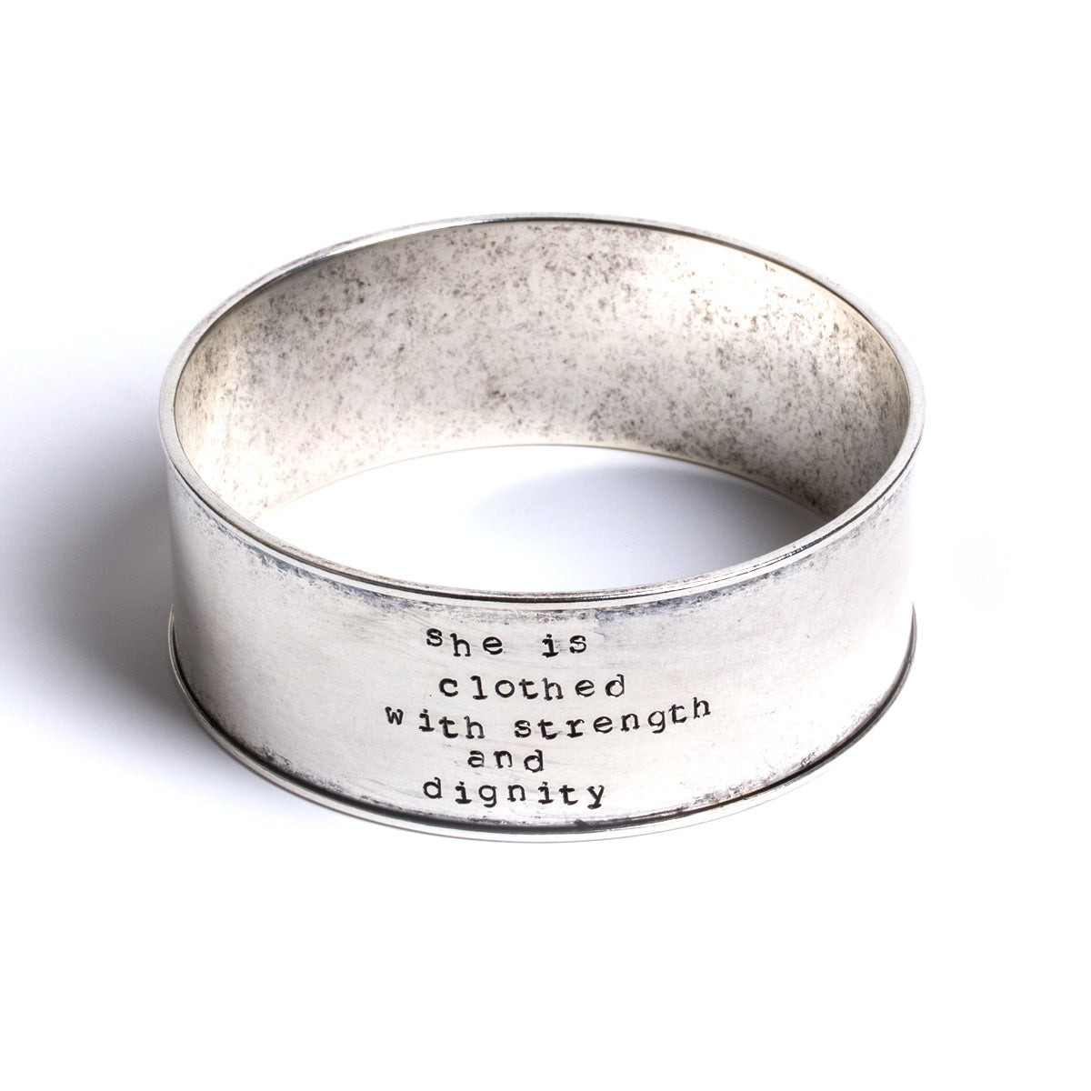 Proverbs 31 Stamped Bangle