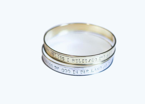 Psalm 27 Stamped Bangles (Set) - Wholesale