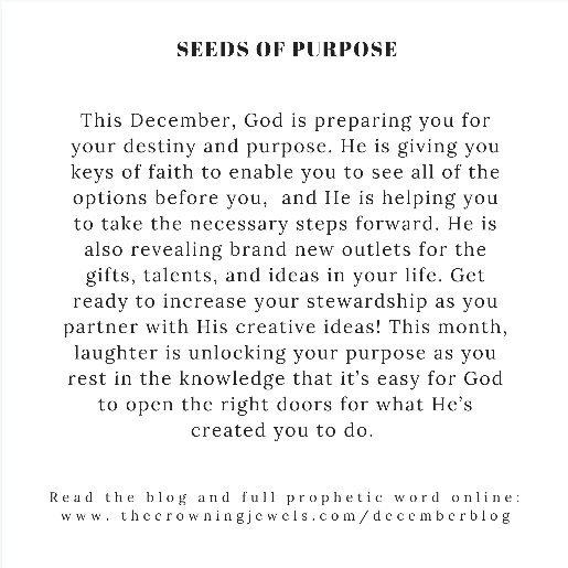 "December Monthly Prophetic | ""Seeds of Purpose"" Long Necklace"