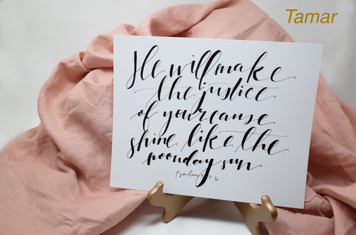 Hand-Lettered Scripture Prints