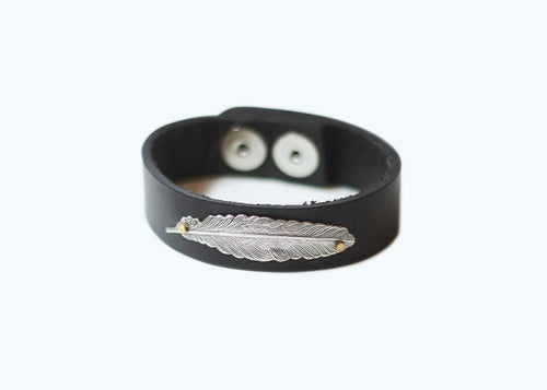 The Presence Narrow Leather Cuff