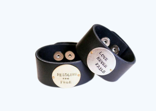 Heaven Inspired Thick Leather Cuff - Wholesale