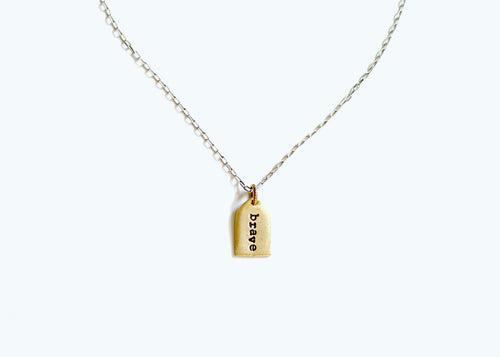 Brave/ Hope/ Love/ Home Elam Necklace
