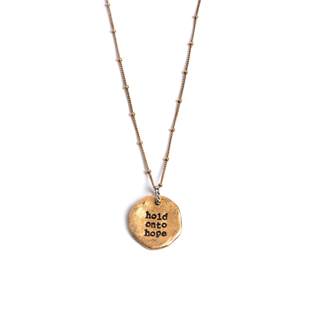 Hold Onto Hope Damascus Necklace