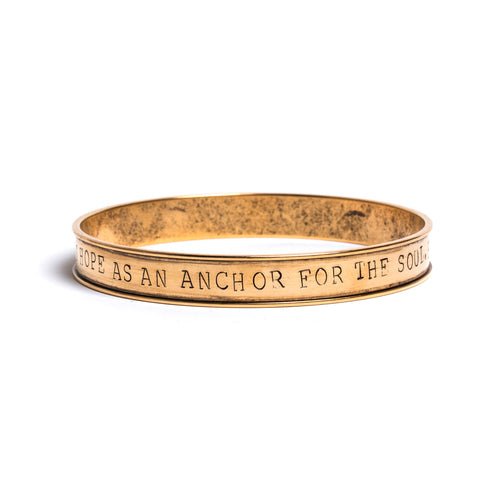 Anchor For The Soul Stamped Bangle