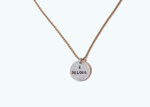 I Belong Necklace - Stocking Stuffer
