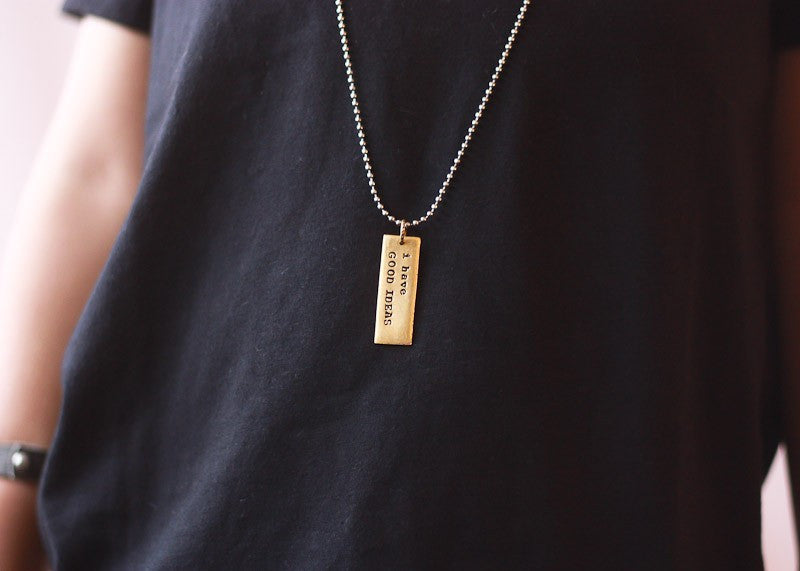 I Have Good Ideas Necklace - Stocking Stuffer