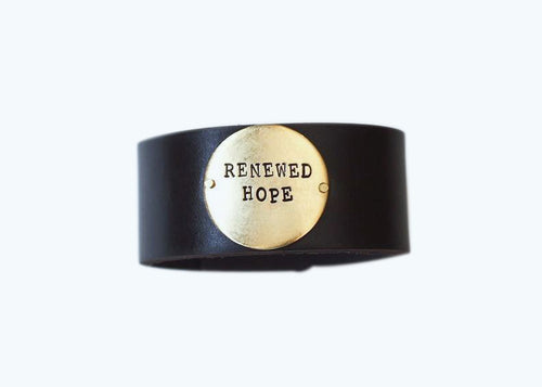 Renewed Hope Leather Cuff