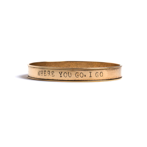 Ruth Stamped Bangle