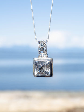 Frosted Filagree Pendant