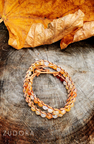Citrus Sunset Wrap Bracelet