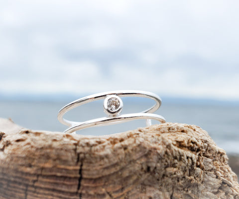 CZ Sterling Silver Ring