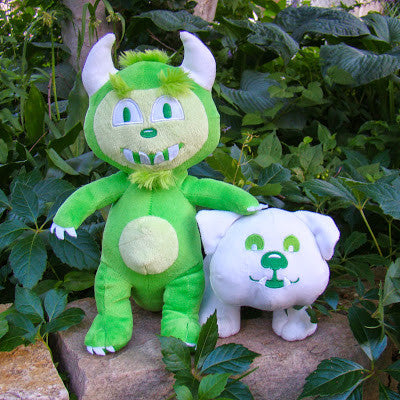 Happy the Hodag and Buddy the Bulldog Plush Toys