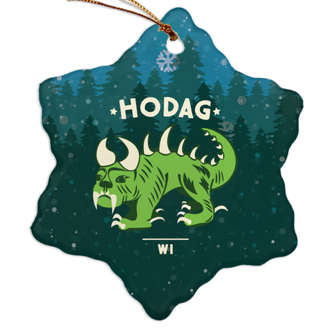 Hodag Porcelain Ornaments