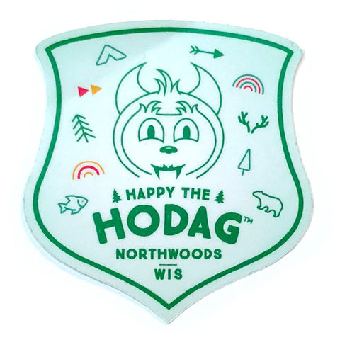 Happy the Hodag Icons of the North Badge Sticker